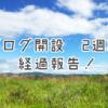 ブログ開始2週間の経過報告!