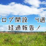 ブログ開始4週間の経過報告!